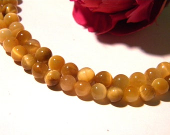 5 Pearl - 8 mm Tiger eye - honey - gems-gemstones - H47 tones