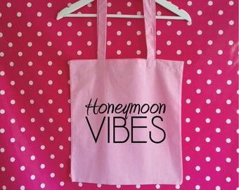 Honeymoon Vibes Tote Bag. Honeymoon Bag. Wedding Bag. Newly Wed Bag. Wedding Tote Bag. Honeymoon Gift.