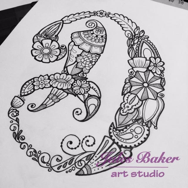 Digital Coloring Page Letter D From