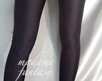 Black shiny spandex leggings Lace Top
