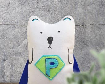 Printable Super Pizzly Plush Sewing Pattern & Tutorial - Polar Bear Plush Pattern - Soft Toy Easy Sewing Pattern - PDF Sewing ePattern
