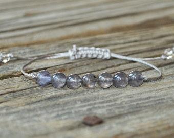 Iolite Yoga Bracelet, Third Eye Chakra, Gemstone Therapy, Meditation Bracelet, Wish Bracelet, Reiki, Strength, Addiction