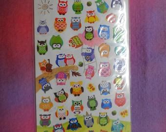 Kawaii Owl Stickers