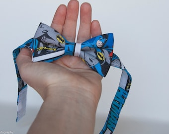 Batman bow tie - marvel bow tie- comic bow tie - super hero tie -  toddler bow tie - men bow te