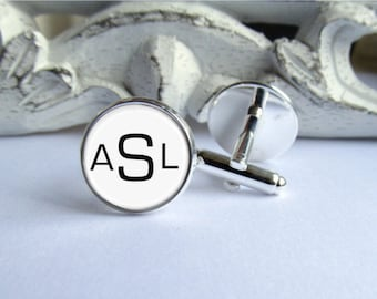 Personalized Cufflinks, Monogram Cufflinks, Wedding Cufflinks