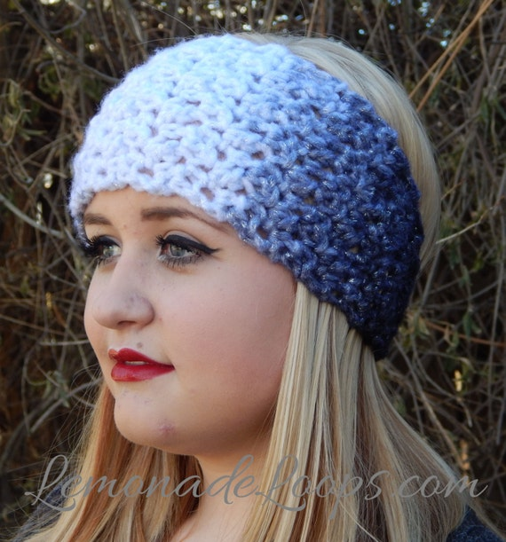 Crochet Earwarmer Headband Pattern Ombre Crochet Winter Headband ...