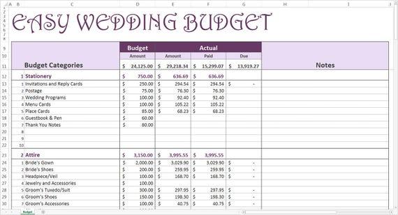 Einfach Hochzeit Budget lila Hochzeit Budgetplaner