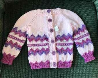 Hand-Knit Baby Sweater
