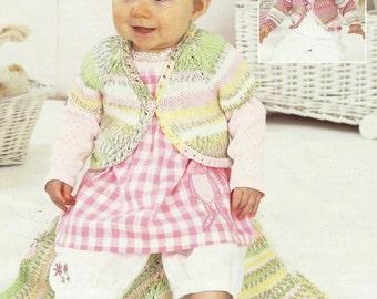 Beautiful Baby Boleros and Blanket Knitting Pattern.