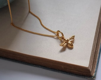 Bee Necklace in 18ct Gold Vermeil