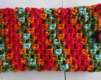 "Crochet Multicolor cellphone bag,  3 1/2"" X 6 1/2"""