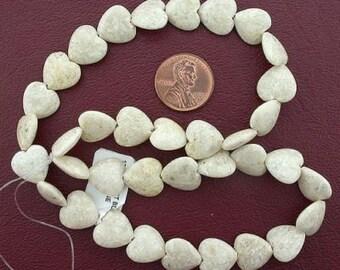 12mm  heart gemstone river stone beads