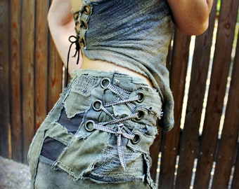 Wasteland Pixie Tattered Patchwork skirt