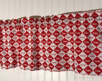 Red and white Coca-Cola Valance