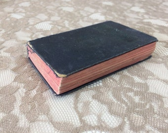 Vintage Pocket Bible, 1918-1923 Cloth Bound New Testament Douay Version, Catholic Christian Religious Collectible Book
