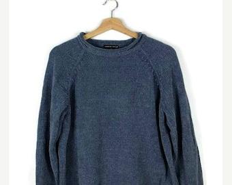 Winter Sale 40% Off Vintage Pale Blue Acrylic sweater form 90's