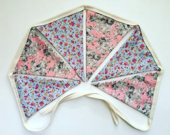 Handmade fabric bunting / garland / pennant for home / wedding / childrens room