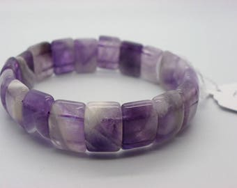 Amethyst bracelet made with violet wands top cuff 15 mm