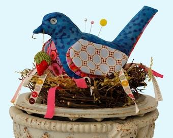 Fly Away Home Bird Pincushion Pattern
