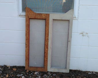 Architectural Salvage - Wooden Doors - Cabinet Doors - Salvaged Wood - Fixer Upper - Wall Decor - White Decor