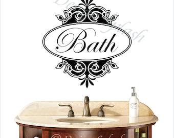BATH Bathroom Wall Decal S-127