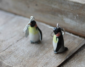 Ceramic Penguin earrings