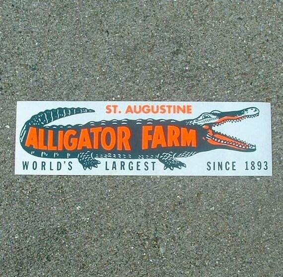 Saint augustine florida alligator farm vintage bumper sticker