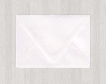 10 A7 Envelopes - Euro Flap - White - DIY Invitations - Envelopes for Weddings & Other Events