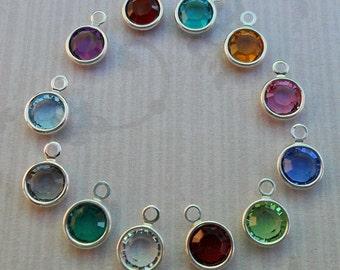 Add-on Crystal Channel Charm - Swarovski Crystal Charm - Birthstone Crystal-  S0185