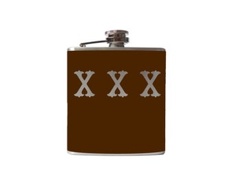 XXX Moonshine Flask- alcohol, liquor, booze, wedding, bridal party, hip- whiskey, Personalized Custom - YOU pick COLOR