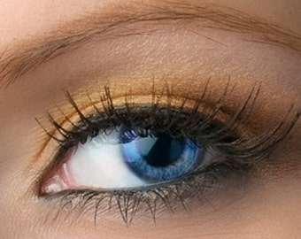 "Rose Gold Eyeshadow Shimmer - ""Citrine"" - Vegan Mineral Eyeshadow Net Wt 2g Mineral Makeup Eye Color Pigment"