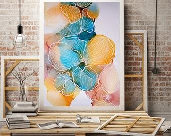 Spring Flower, Abstract Flower Painting, Colourful Art, Happy Art, Original Art, Alcohol Ink Art, Ink Painting, Australian Art