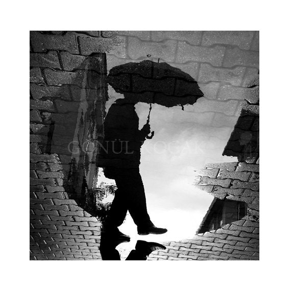 Items Similar To Black And White Photography Reflection