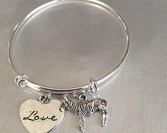Zebra love zebra bracelet