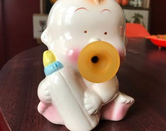 Vintage Baby with Bottle and Pacifier Bank