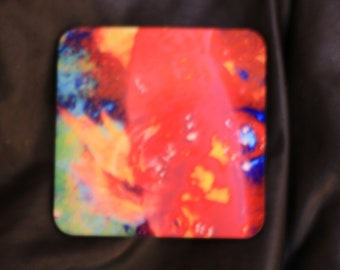 4x4 Rainbow Fish Coaster