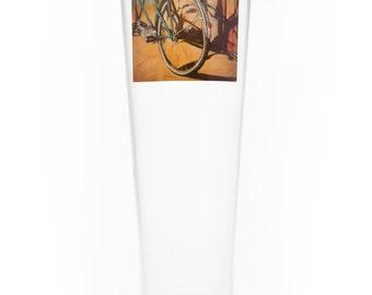 On the Wheel Single Beer Glass - Bluebird Tandem