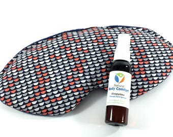 Eye Mask, Microwaveable, Therapy Eye Pillow, Heat Pack, Cold Pack, Tech Gift, Gift for Him, Relaxation, Stress Relief, Headache, Pain Relief
