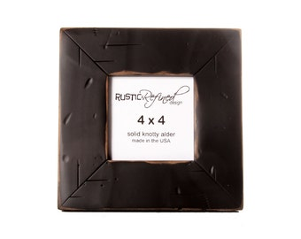 4x4 Cabin picture frame - Black, Free Shipping