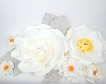 Extra large Paper Flower Backdrop - Nursery Decor - Girl Bedroom - Custom Order