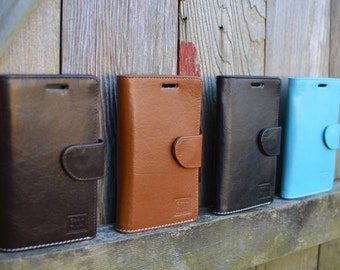 Handmade Samsung S6 Case Genuine Real Leather in Rich, Tan, Brown, Blue or Black by Ebb Flow