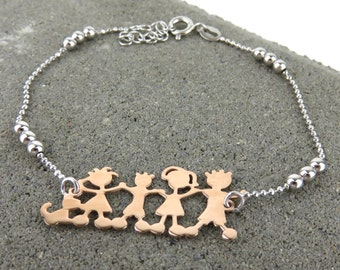Silver Family Bracelet - Also available rose gold plated