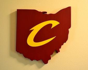 Cleveland Cavaliers Wall Art - Handmade Wooden Cavs Sign - Cleveland, Ohio