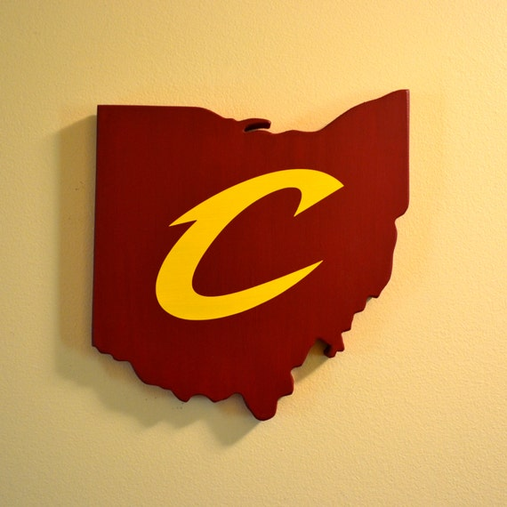Cleveland Cavaliers Wall Art Handmade Wooden Cavs Sign