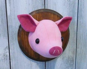 Pig Faux Taxidermy Home Décor