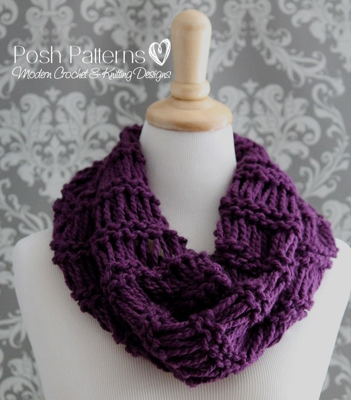 Knitting Patterns Easy Cowl Knitting Pattern Infinity