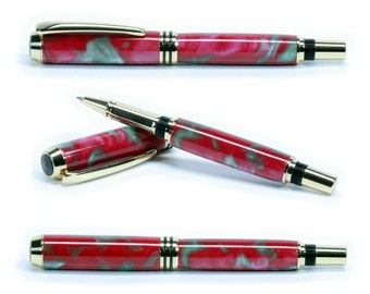 AppleTini Acrylic on Gold Tycoon Rollerball Pen