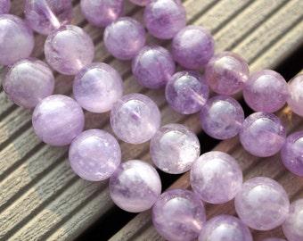 Natural Lavender Amethyst (Madagascar) 8.5-9mm round beads (ETB00073)