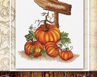 Halloween cross stitch pattern pumpkin cross stitch food cross stitch kitchen cross stitch fall cross stitch harvest cross stitch autumn