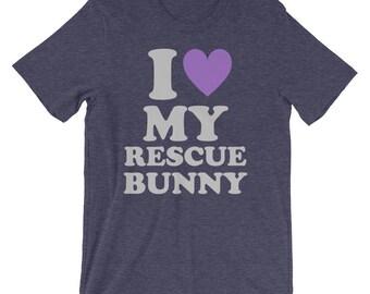I Love My Rescue Bunny Tee
